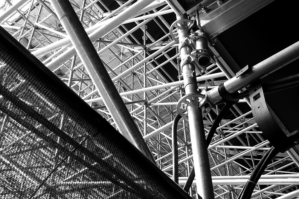 Under the stands, Olympic Riverbank Arena by Ros Bell