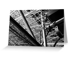 Under the stands, Olympic Riverbank Arena Greeting Card