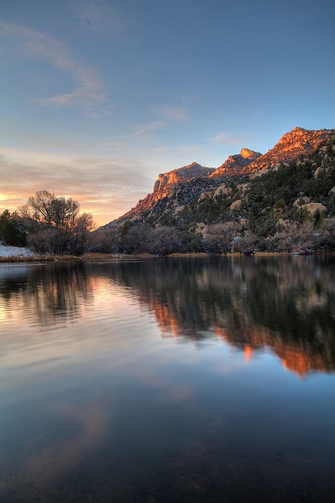 Last Light Granite Basin by Bob Larson
