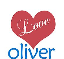 I Love Oliver - T shirts & Accessories Photographic Print