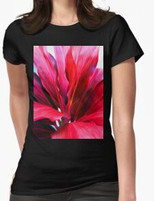 Ti Leaf Series #3 Womens Fitted T-Shirt