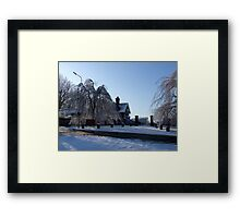 Dinefwr Park-The Lodge in snow-01 Framed Print