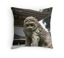 Japanese Lion Throw Pillow