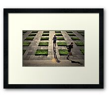 The Runners - Colour Version Framed Print