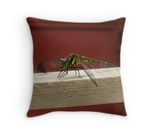 Yellow Dragonfly Throw Pillow