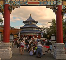 China Pavillion (Epcot) by John  Kapusta