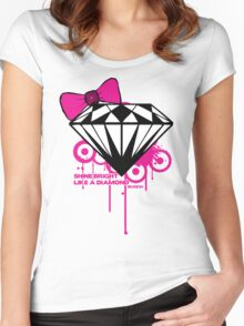 Shine Bright Like a Diamond! in Luxury!! Girls!!! :D Women's Fitted Scoop T-Shirt