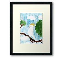 Cocky Framed Print