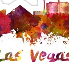 Las Vegas skyline in watercolor Sticker