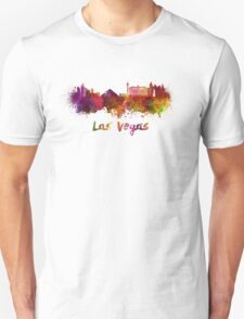 Las Vegas skyline in watercolor T-Shirt