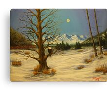 Moonlighting Eagle Canvas Print
