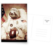 Astronaut Sloth Greeting Card