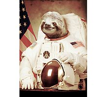 Astronaut Sloth Photographic Print