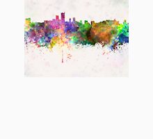 Leeds skyline in watercolor background Unisex T-Shirt