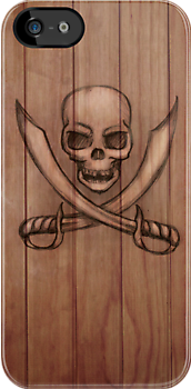 Jolly Roger iPhone & i Pad case by Sarah  Mac