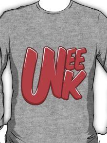 """UNEEK """"Bubble Gum"""" Original logo T-Shirt"""