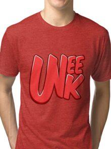 """UNEEK """"Bubble Gum"""" Original logo Tri-blend T-Shirt"""