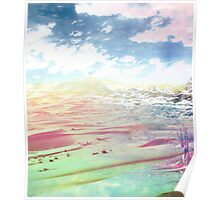 Desert Collage Abstract Art Poster