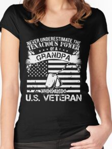 GRANDPA WHO IS ALSO A U.S. VETERAN Women's Fitted Scoop T-Shirt