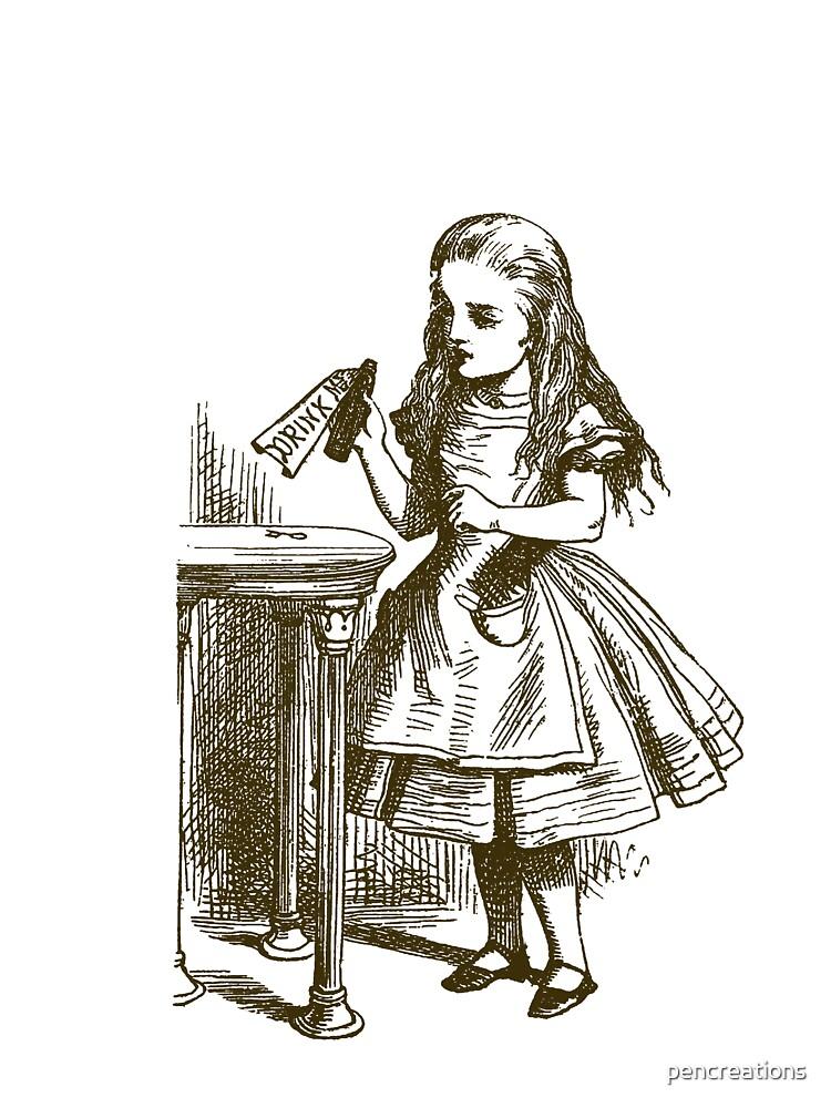 Alice in Wonderland Drink Me by pencreations