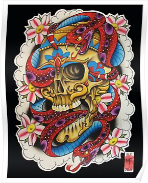 sailor jerry skull and snake  poster,375x360,ffffff.u1.jpg