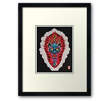 Dragon Head and Sword Framed Print