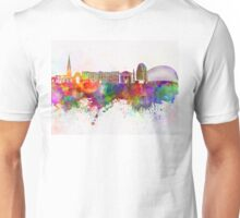 Leicester skyline in watercolor background Unisex T-Shirt