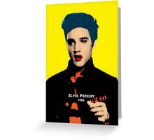 Elvis Presley with Andy Warhol Pop Art Greeting Card