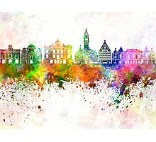 Lille skyline in watercolor background Photographic Print