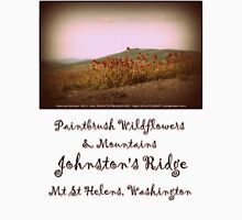 paintbrush wildflowers & mountains near Johnston's Ridge Womens Fitted T-Shirt