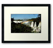 wonderful Iguassu Falls Framed Print