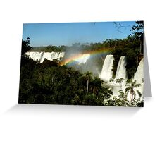 wonderful Iguassu Falls Greeting Card