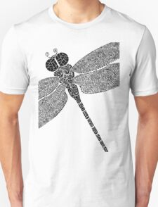 Dragon Fly Doodled Unisex T-Shirt