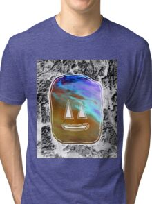 Sunset Face Tri-blend T-Shirt