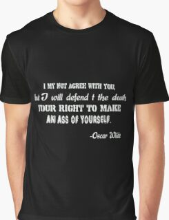 Oscar Wilde Quote Girls funny nerd geek geeky Graphic T-Shirt