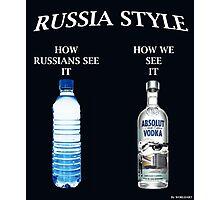 Russia Vodka style Photographic Print