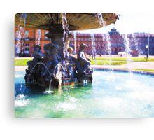 Stuttgarter Schloß Fountain VRS2 Canvas Print
