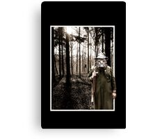 Wild boar / Hunter in the Woods VRS2 Canvas Print