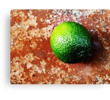 Lime on Iron VRS2 Canvas Print