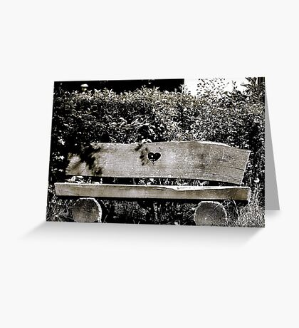 Lovers Bench VRS2 Greeting Card
