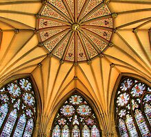 Vaulted Ceiling -The Chapter House - York Minster - HDR by Colin  Williams Photography