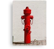 Bright Red Fire Hydrant VRS2 Canvas Print