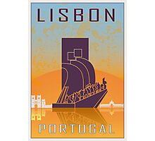 Lisbon vintage poster Photographic Print