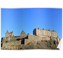 Edinburgh Castle from Behind Poster