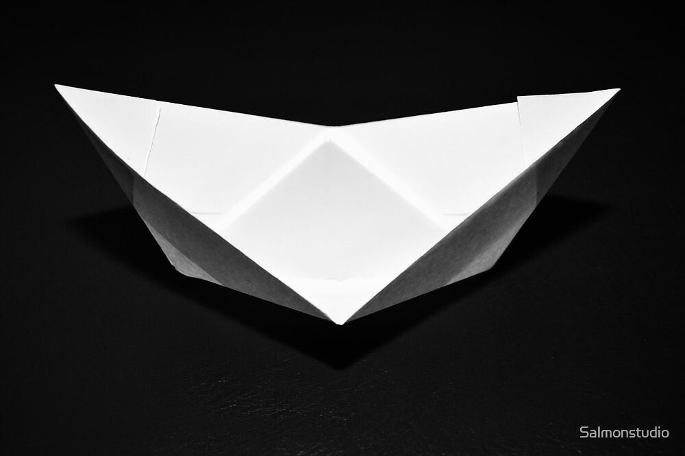 Paper boat by Salmonstudio