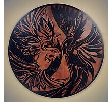 Birds marquetry art picture Photographic Print