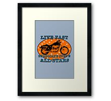 Live Fast Deadmans Curve All Stars Motorcycle Framed Print