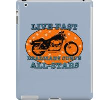 Live Fast Deadmans Curve All Stars Motorcycle iPad Case/Skin