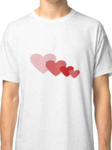 Patchwork Hearts Classic T-Shirt