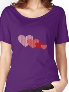 Patchwork Hearts Women's Relaxed Fit T-Shirt